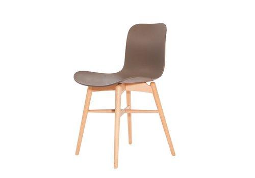 NORR11 Design stoel Langue Original Natural / Gargoyle Brown