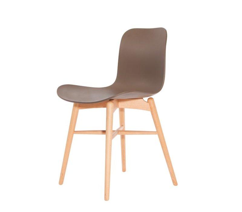Design stoel 'Langue Original Natural' in de kleur Gargoyle Brown