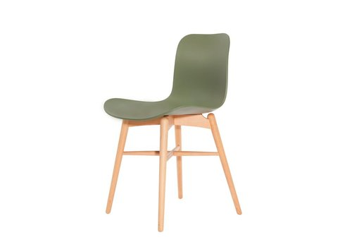 NORR11 Design stoel Langue Original Natural / Moss Green