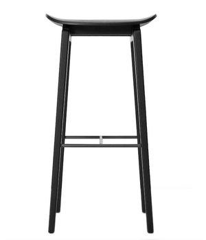 NORR11 Houten barkruk NY11 in de kleur zwart