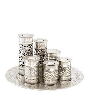 Eichholtz Serviertablett mit Teelichtern 'Marrakech' M D=50cm