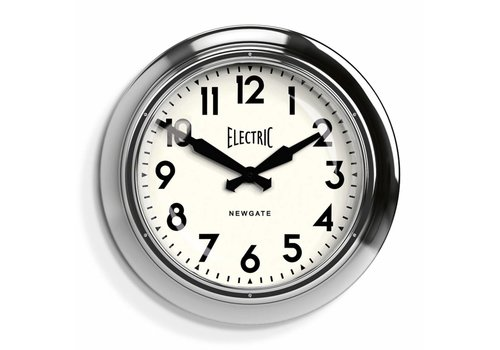 Newgate Wall clock 'The Large Electric' Chrome