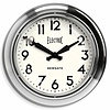 Newgate Wall clock 'The Giant Electric' color 'Chrome'