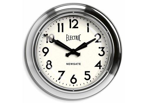 Newgate Wall clock 'The Giant Electric' Chrome