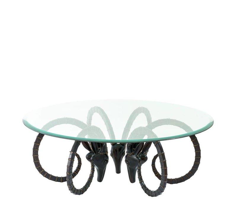"""Designer Wohnzimmertisch """"Ibex"""", Durchmesser 125 cm, Höhe 46 cm"""