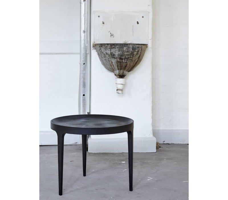 Rond bijzettafeltje 'Ghost' diameter 50cm in de kleur Raw Black