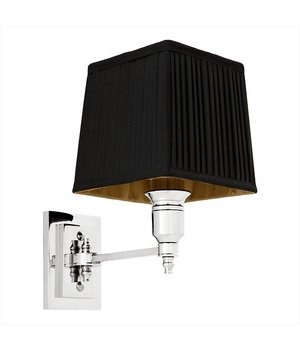 Eichholtz Wandlamp Lexington Single met zwarte kap