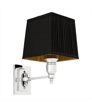 Eichholtz Wandlampe Lexington Single mit schwarzer Kappe