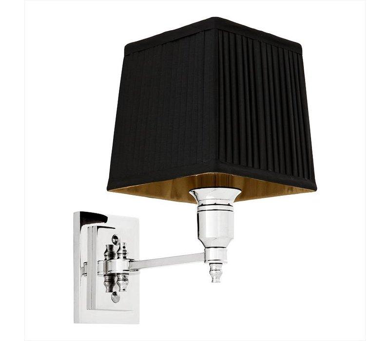 Wandlamp Lexington Single met zwarte kap