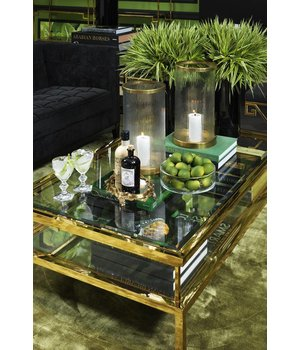 Eichholtz Glass Coffee table 'Harvey' 100 x 100 x H. 45 cm - Copy