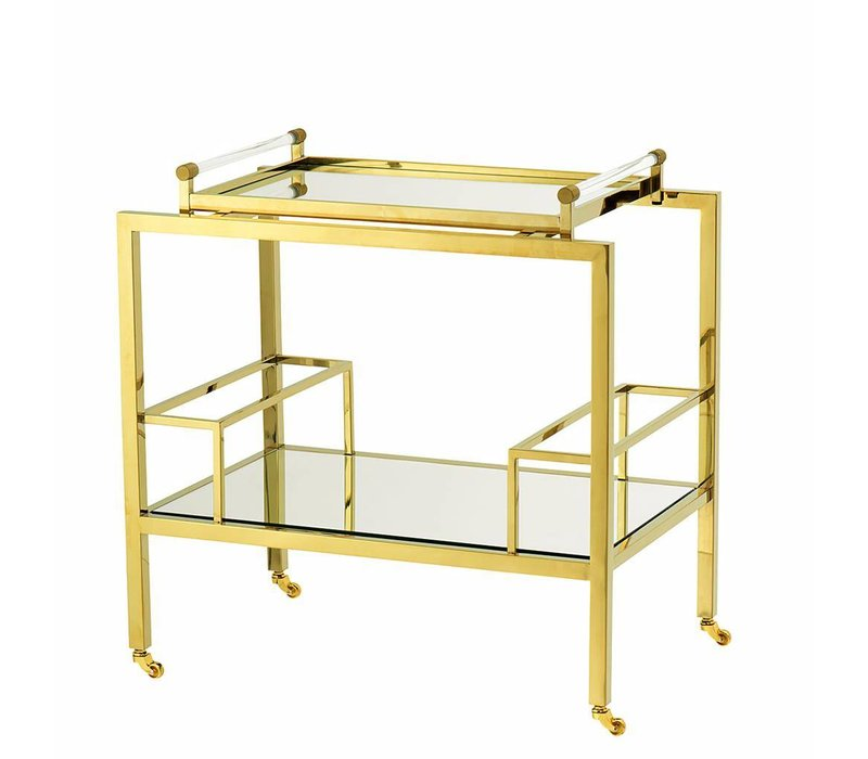 "Trolley ""Majestic"" in Gold, 72 x 47 x 72 cm"
