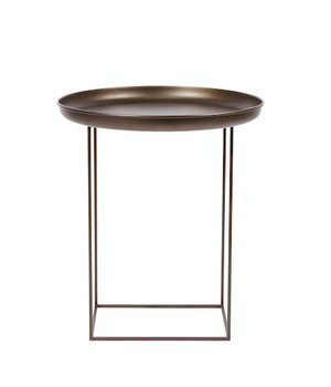 """NORR11 Beistelltisch """"Duke Small"""" in Bronze mit einem Durchmesser von 45 cm."""