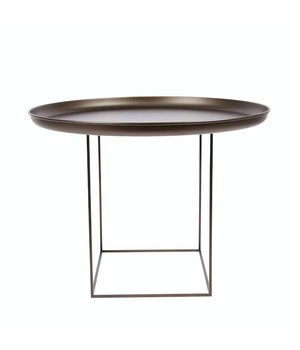"""NORR11 Beistelltisch """"Duke Medium"""" in der Farbe Bronze mit einem Durchmesser von 70 cm."""