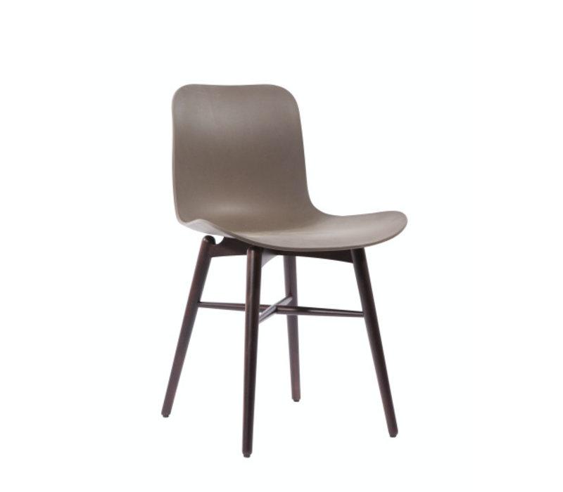 Design-Stuhl Langue Original Dark Stained in der farbe Gargoyle Brown