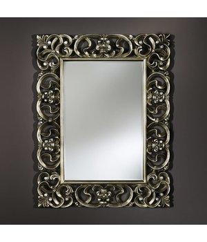 Deknudt 'Baroque' ist ein schöner klassischer Spiegel von 101 x 130 cm in Silberrahmen