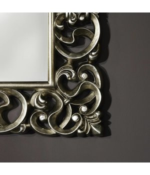 Deknudt Classical Mirror 'Baroque' 101 x 130 cm in silver