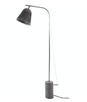 """NORR11 Design-Stehlampe """"Line One"""" in der Farbe Oxidized mit unbearbeitetem Marmorfuß."""