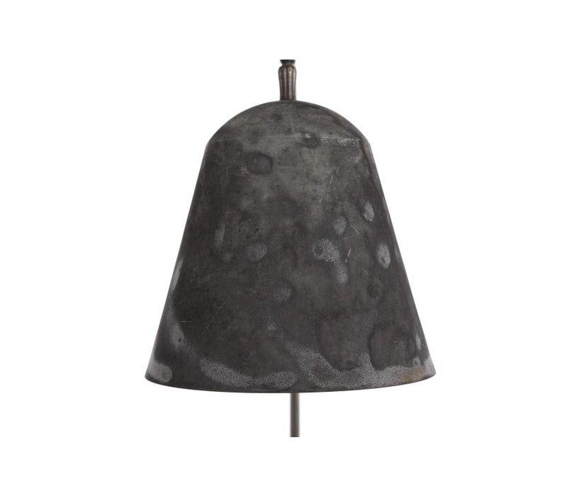 """Design-Stehlampe """"Line Two"""" oxidiert mit Fuß aus poliertem Marmor."""