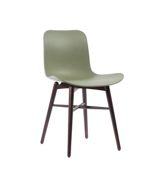 "NORR11 Design-Stuhl ""Langue Original Dark Stained"" in der Farbe Moss Green"