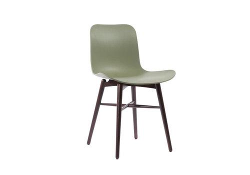 NORR11 Design-Stuhl Langue Original Dark Stained / Moss Green
