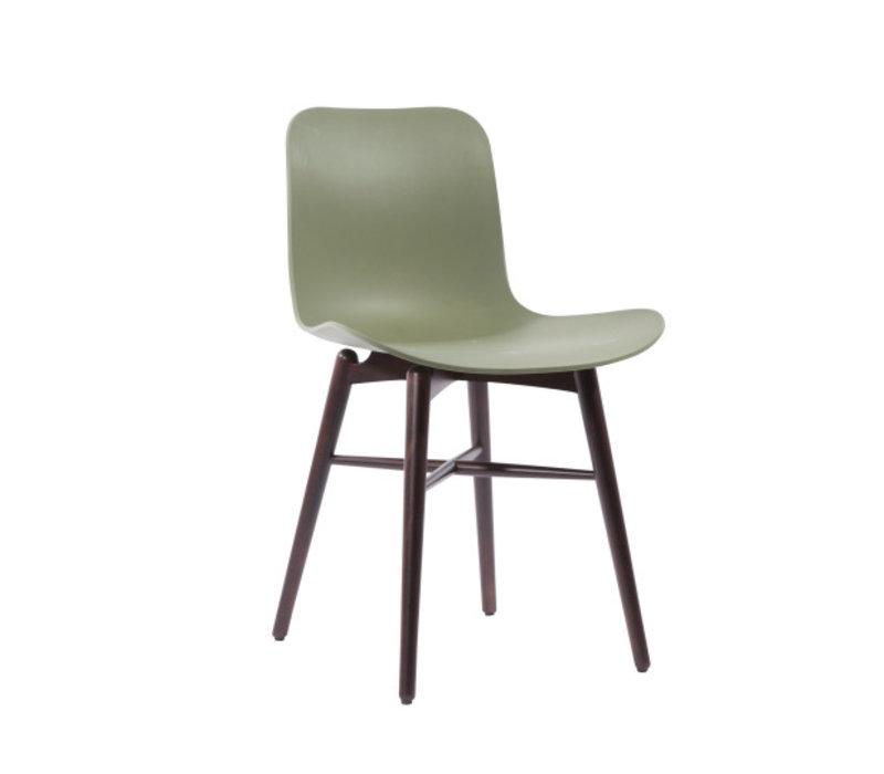 Design stoel 'Langue Original Dark Stained' in de kleur Moss Green