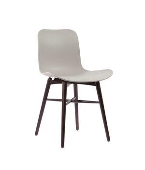 """NORR11 Design-Stuhl """"Langue Original Dark Stained"""" in der Farbe Flint Grey"""