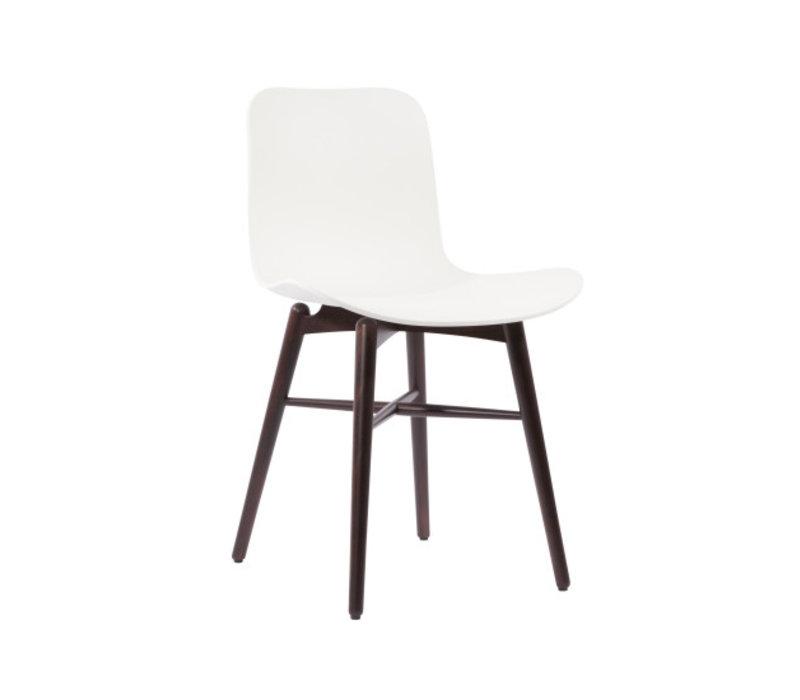 """Design-Stuhl """"Langue Original Dark Stained"""" in der Farbe Off White"""