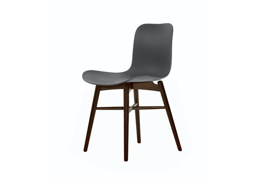 NORR11 Design-Stuhl Langue Original Dark Stained / Anthracite Black.