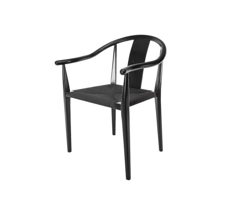 """Design-Stuhl """"Shanghai"""" in Schwarz"""
