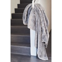Bontplaid 'Seal Silvergrey Supersoft' in 140 x 200cm