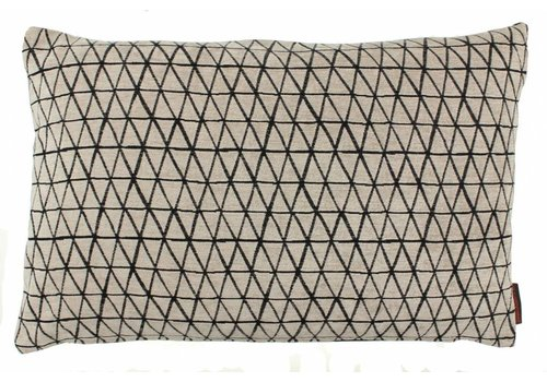 CLAUDI Design Cushion Mirmir Black White