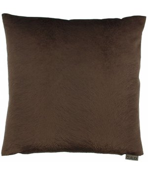 Claudi Cushion Perla color Chocolate