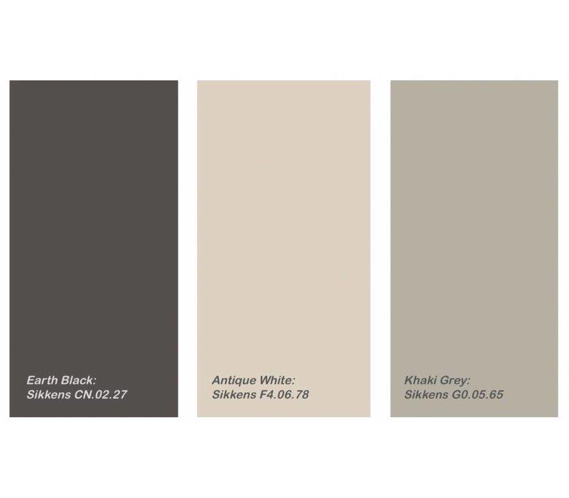 """Beistelltisch """"Duke Medium"""" in der Farbe Khaki Grey mit einem Durchmesser von 70 cm."""