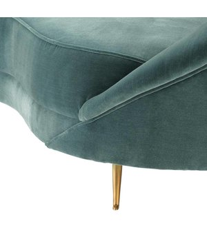 Eichholtz Couch Provocateur in der Farbe Cameron Deep Turquoise