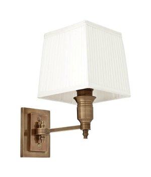 Eichholtz Wandlampe Lexington Single mit weisse Kappe