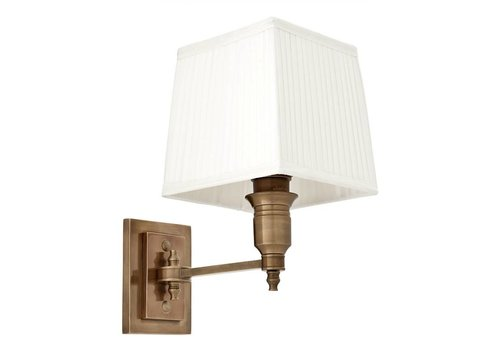 Eichholtz Wall lamp Lexington Single - White/Brass