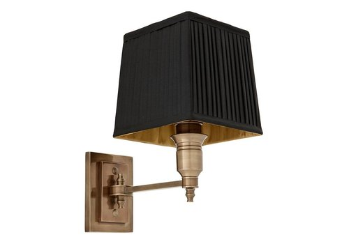 Eichholtz Wall lamp Lexington Single - Black/Brass