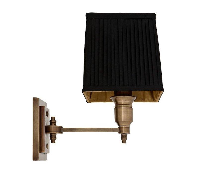 Wandlampe Lexington Single mit schwarzer Kappe