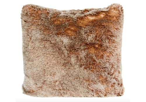 Winter-Home Cushion faux fur Tundrawolf