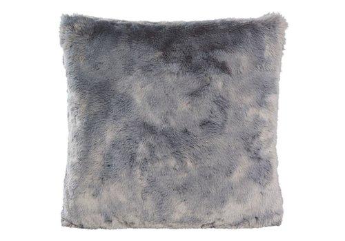 Winter-Home Cushion faux fur 'Seal Grey'