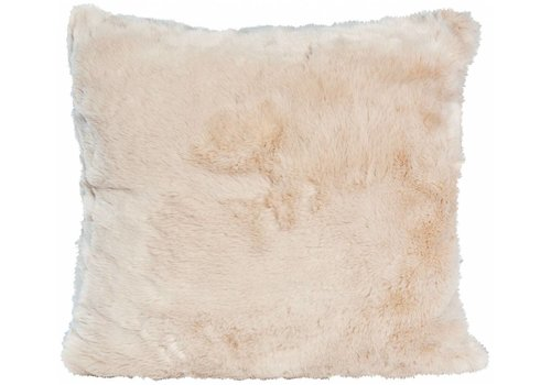 Winter-Home Cushion faux fur 'Seal Sand'