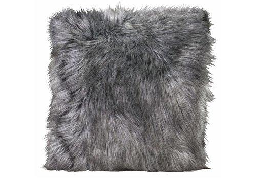 Winter-Home Cushion faux fur Tamaskanwolf