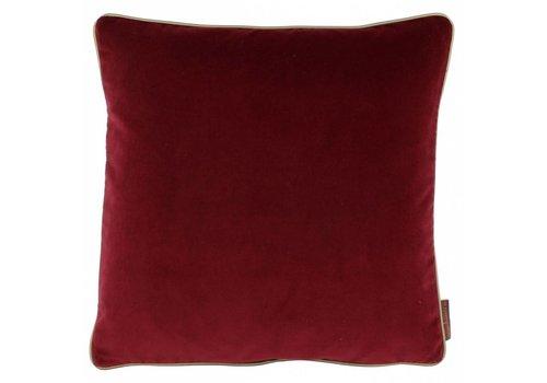 CLAUDI Design Kussen Saffi Dark Red