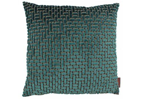 CLAUDI Design Cushion Ebbe Petrol