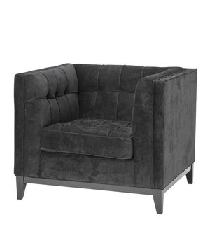 Eichholtz Chair 'Aldgate' Black Velvet