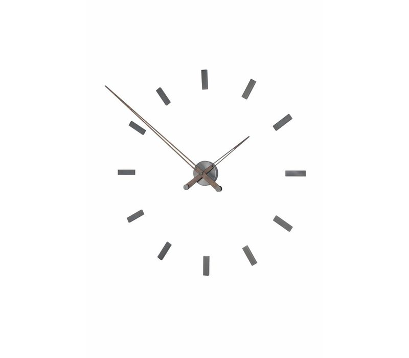 Large wall clock 'Tacón Graphite t' 105cm