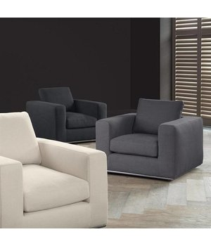 Eichholtz Eichholtz Chair 'Atlanta' Panama Charcoal