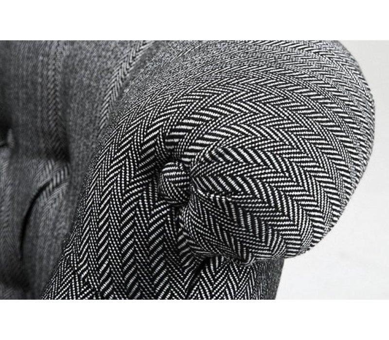 Sessel 'Camden' Herringbone Black & White
