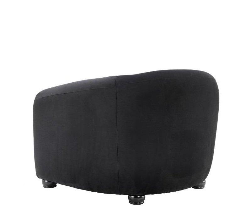 Fauteuil 'Caponi' Bague Black Velvet