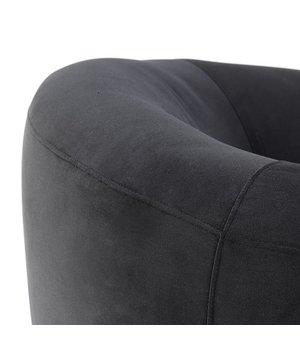 Eichholtz Fauteuil 'Caponi' Bague Black Velvet
